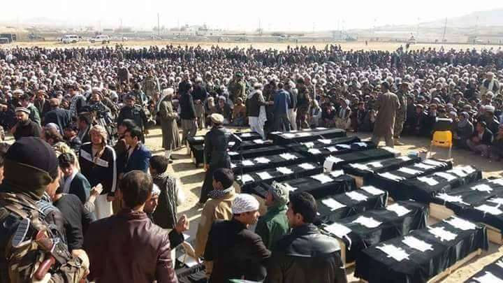 Funeral of the more than 30 civilians that were killed in Ghor in October 2016.