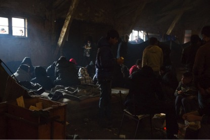 Afghan migrants, including minors, living in inhumane conditions in a Belgrade, Serbia squat. Photo: Martine van Bijlert, April 2017.