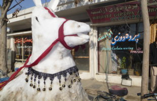 Snow horse in Kabul (photo: Kate Clark 2012)