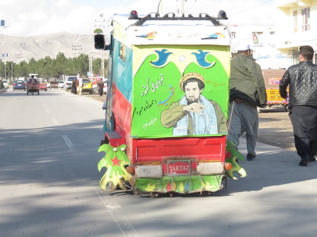 Another form of public memorialisation: picture of late Ahmad Shah Massud on a rickshaw in Herat (2019). Photos: Thomas Ruttig