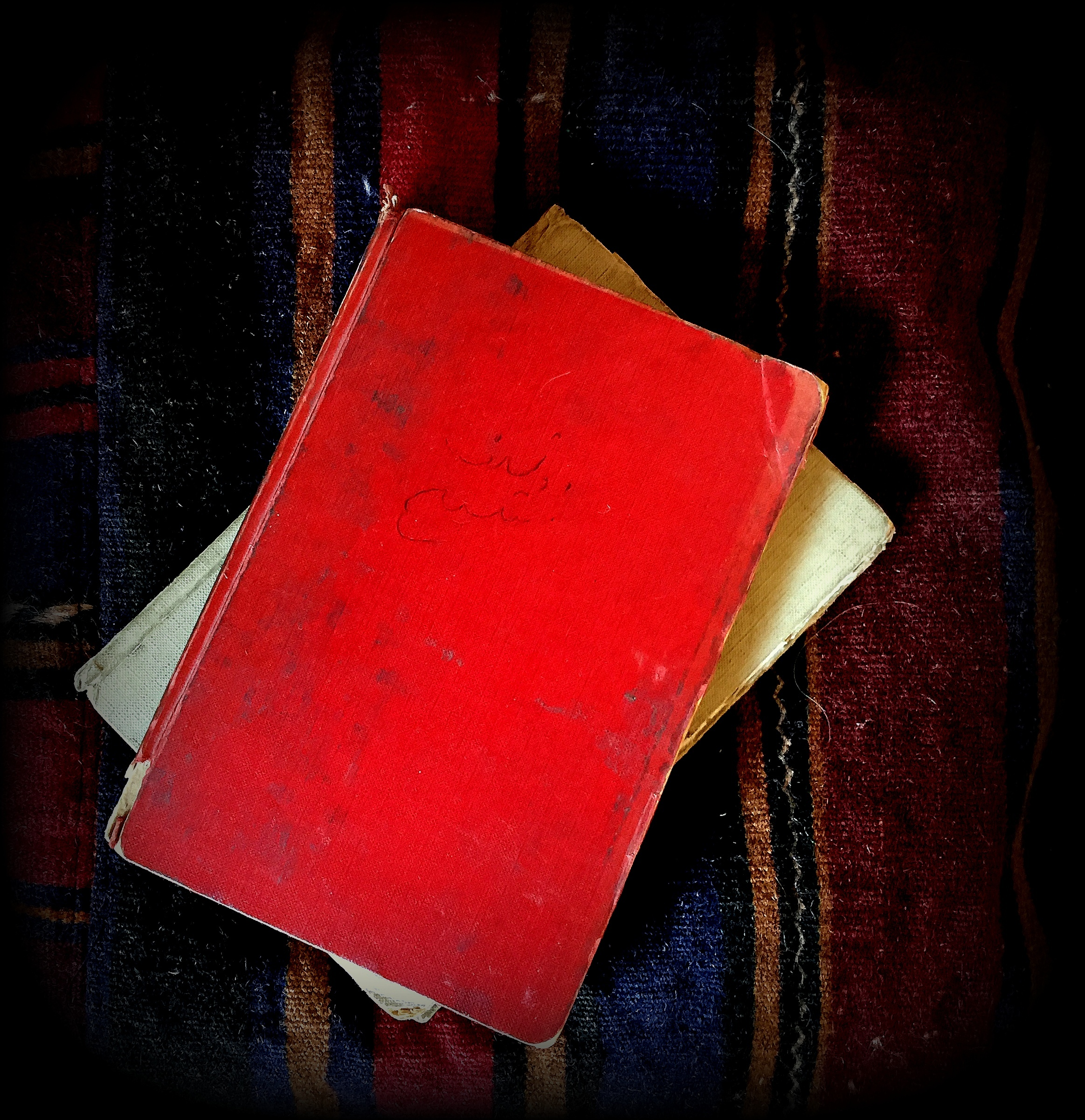 Voislav's grey and red notebooks. Photo: Author